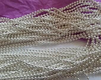 Chain mesh ball silver-colored 1.5 mm
