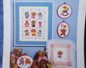 Cross Stitch Pattern - PLAYTIME BEARS Book Three - Teddy Bear Patterns-Nursery Decor