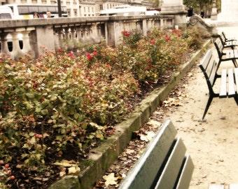 Instant Download Printable Photography Digital Photo Download Paris Photo Dreamy Benches Photo France Photo Garden Photo Stonework Photo
