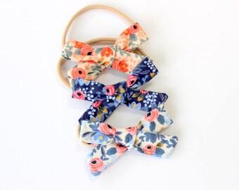 Set of 3 Floral Print Headbands, Baby Headband, Baby Girl Headband, Newborn Headband, Rifle Paper Co Headband, Rifle Paper Co, Cotton bow