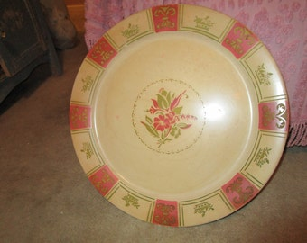 Vintage XL Tin Platter/Tray, Primitive, Eclectic, Shabby Chic