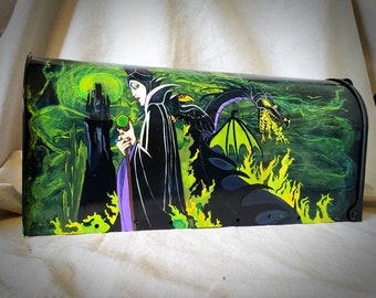 Maleficent Custom Hand painted mailbox mailboxes Disney Dragon