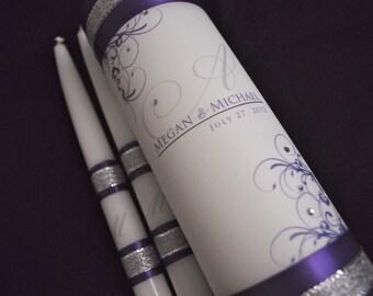 Wedding Unity Candles, Unity Candle, Weddings, Wedding Candle, Monogram Unity Candle