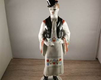 hollohaza Hungary 1831 Hungarian Porcelain Man