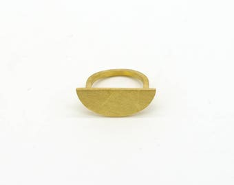 NEW ME Collection - Ring - yellow gold plated Silver, contemporary urban (small)