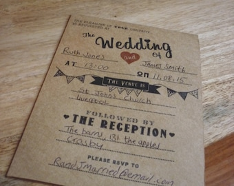 Vintage / Retro Wedding Invitation