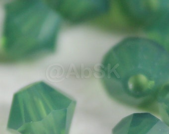 144 pieces Swarovski Crystal Beads BICONE 5328 5301 4mm Palace Green Opal