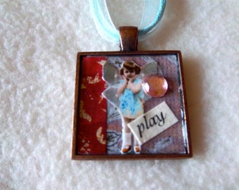 Play Collage Pendant Necklace - No.14