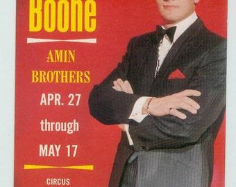 Vintage Pat Boone at the Nugget Reno Postcard Amin Brothers Vibrant Color