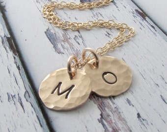 Gold Initial Necklace Personalized Jewelry Gold Necklace Initial Necklace Bohemian Jewelry Mothers Necklace Holiday Gift For Her