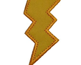 "Bolt of Lightning Applique Machine Embroidery Design Pattern in 5 sizes 3"", 4"", 5"", 6"" and 7"""