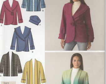 Jacket Pattern Variations Fleece or Double Fleece  Misses Size XS - S - M - L - XL uncut Simplicity 4025