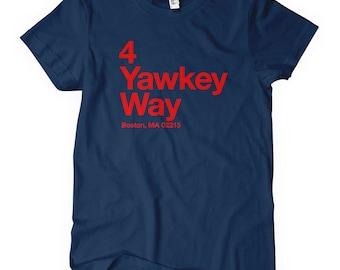 Women's Boston Baseball Stadium T-shirt - S M L XL 2x - Ladies' Boston Tee, Sports, Fan, Gift - 4 Colors