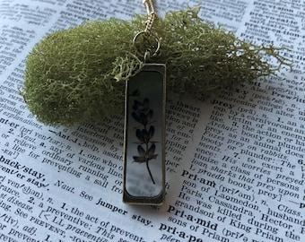 Lavender necklace, real preserved lavender