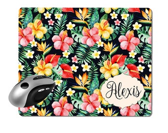 Tropical Mouse Pad Personalized Mouse Pad Mouse Pad Tropical Computer Mouse Pad Teacher Gift Secretary Gift RyElle