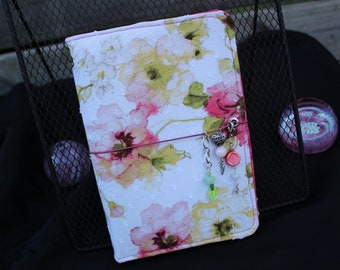 Sweet Rose travelers notebook, Planner cover, feminine, fauxdori, sketch book cover, journal cover, floral, back to school, scheduling, pink