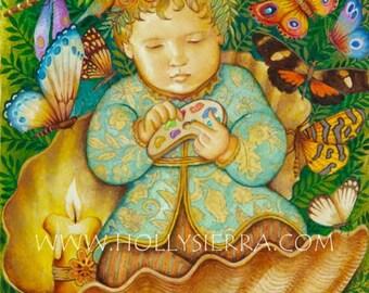 The Divine Child - A Fine Art Greeting Card