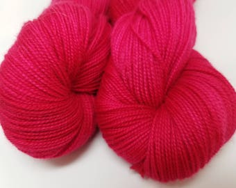 Perfect Rose, Red, Pink, ColorPurl Ritzy Sock, Hand Dyed Yarn, Merino Cashmere Nylon, MCN, Sock Weight, 400 yards
