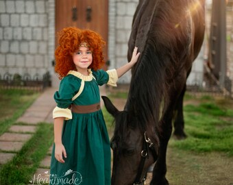 Merida - Character Inspired Dress - Sizes 1/2 through 8