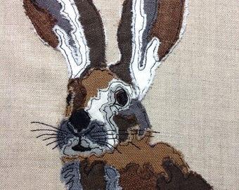 Raw Edge Applique 'Hare'