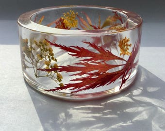 Acer autumn bangle,resin autumn bangle,autumn bracelet