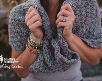Crochet Shawl Pattern: 'Twisted Infinity Shawl', Mobius Shawl