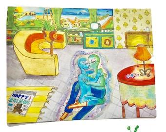 2070s Room postcard