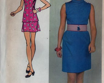 Vintage Simplicity 9916 Sewing Pattern Womens Sleeveless Two Piece Mini-Dress Sz. 14 Bust 36