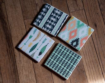 Boho Coasters, Set of 4