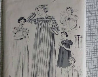 """1950s Nightgown - 32"""" Bust - Butterick 6315 - Vintage Sewing Pattern"""