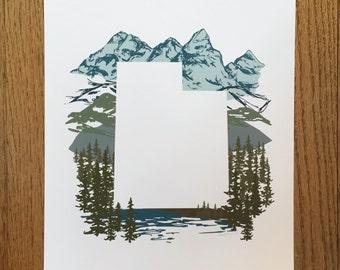 Utah State Print - Mountains