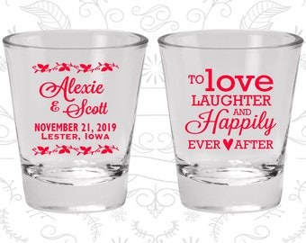 Wedding Shot Glasses, Shot Glasses, Shot Glass, Wedding Favors, Custom Shot Glasses, Personalized Shot Glasses, Custom Shot Glass (C32)