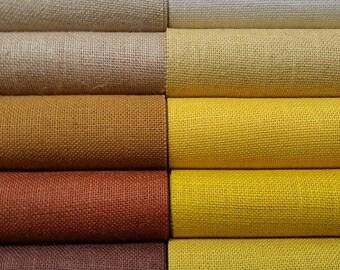 6 inch burlap ribbon - Ivory - Beige -Natural - Brown - Butter - Daffodil - Harvest Gold