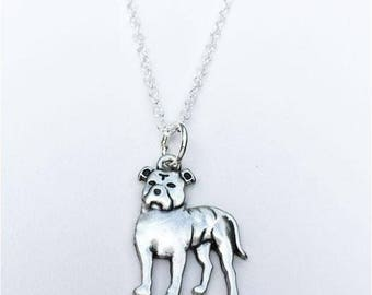 Pit Bull Floppy Ears Charm Necklace