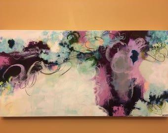 "Found My Way, Original Abstract Painting, 12x24"" by Dana Hassard"
