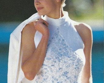 Vintage Summer Fashion Knit Sweater Pullover PDF Pattern