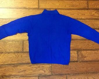 Royal Blue Mock Turtleneck Sweater