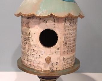 Blue Sparrow Birdhouse