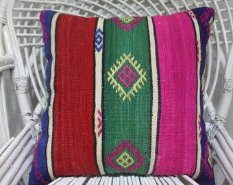 christmas chair covers christmas pillow cover 20x20 throw pillows sofa kilim pillow cover red and pink pillow cover 20x20 Kilim Pillow 2119