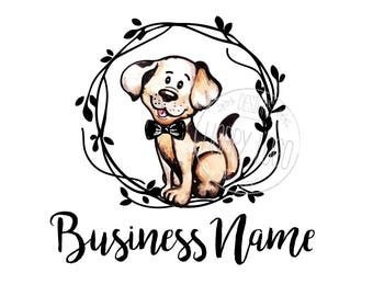 DIGITAL Custom logo design, cute puppy logo, cute logo, logo design dog, business logo design puppy, watercolor puppy logo, dog logo cute