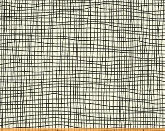 "Windham Fabrics ""American Vintage"" Grid in Black 1 Yard Cut"