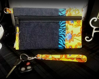 New Modern/Shabby Key Fob Bag Zipper Pouch