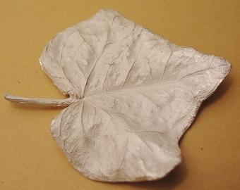 Large leaf casting, English ivy, sterling silver, cast botanical supplies UL030