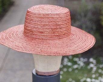 Bassy Straw/ Raffia Boater hat