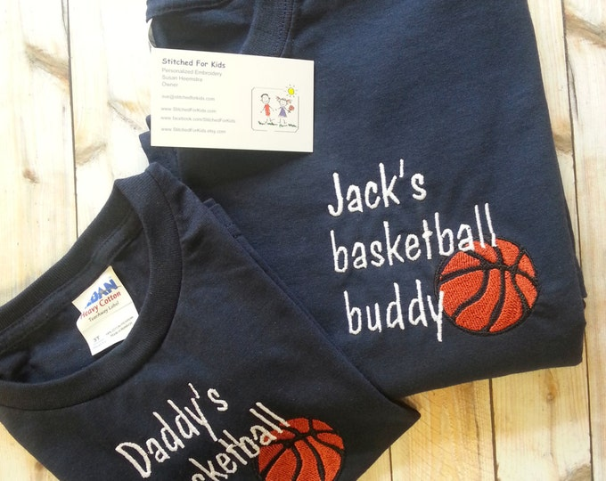 Happy Fathers Day, First Fathers Day Gift,Personalized Matching Sport Father and Son Buddy Shirts, Father's Day Sports Shirts, Gift From Son