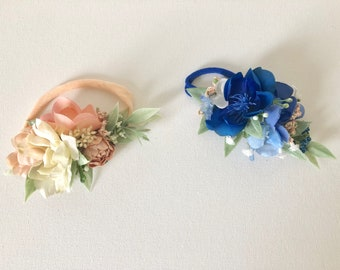 Flower Crown Headbands- Spring floral Headbands