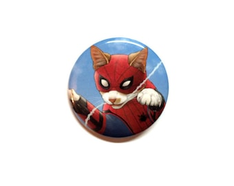 "Spider-Cat 1.5"" pinback button"