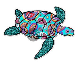 Sea Turtle Colorful Geometric Design Pattern Beach Car Laptop