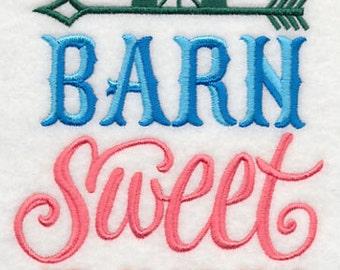 Barn Sweet Barn Embroidered Flour Sack Hand/Dish Towel