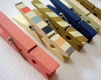 Satz von sechs Mini-Bildschirm gedruckt Wäscheklammer Magnete / Kühlschrank-Magnete / Küche Magnete / super stark